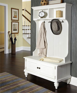 Traditional-Style White Mudroom