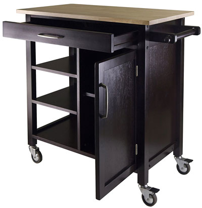 Bar Cart Table on Wheels for Entryway Storage