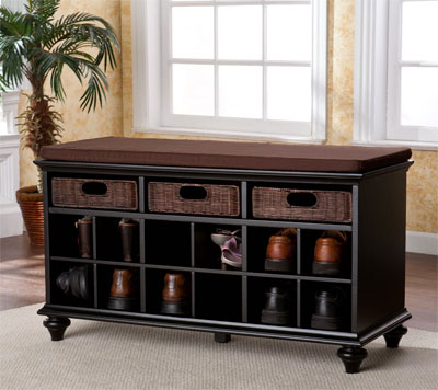 Chelmsford Entryway Shoe Storage Bench