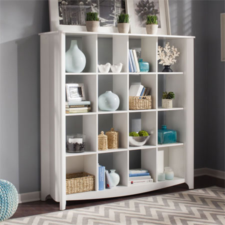 Using an IKEA Cube Bookshelf as Mudroom Cubbies