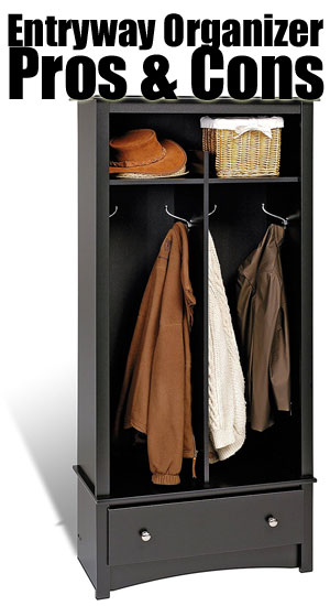 Entryway Organizer With Hooks Cubbies Drawer
