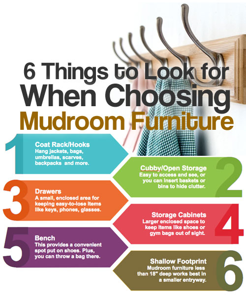 Mudroom Furniture Features: 6 Things to Look For