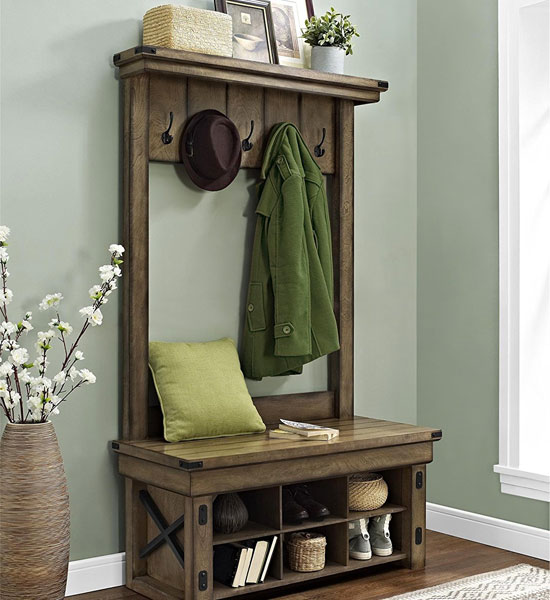 Rustic Hall Tree With Cubbies 1 Step Entryway Decorating