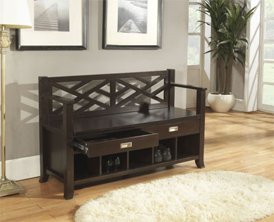 Sea Mills Entryway Bench with Storage Cubbies