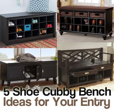 5 Shoe Cubby Bench Ideas