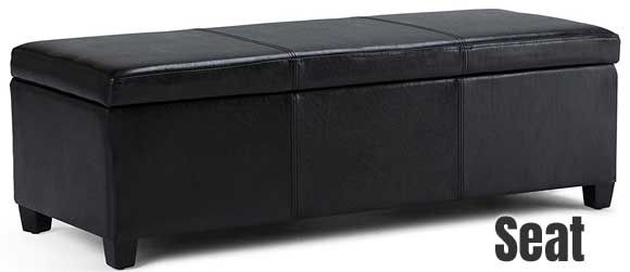 Simpli Home Avalon Storage Ottoman  sc 1 st  Mudroom Storage Lockers & Simpli Home Avalon Storage Ottoman [Save $ Without Looking Cheap]