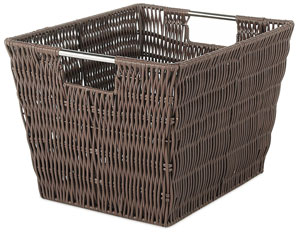Plastic Resin Woven Storage Basket that Looks Like the Real Thing